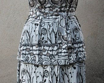 Print tunic T 40-42 stretch skirt set