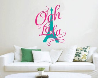 Paris Wall Decals-Paris France Wall Decal-Paris Stickers-Paris Eiffel Tower wall Decals-Wall Art Murals-Wall Decor-Lettering wall decals
