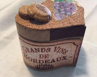 Wine Country~ Wooden, lined heart box