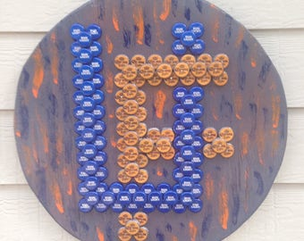 Bottle cap art University of Florida Emblem