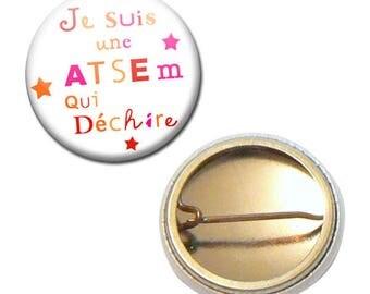 Badge 25 mm - I'm a school that rocks kindergarten kids gift