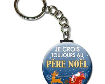 I still believe in Father Christmas Keyring chain 38mm (Christmas gift idea)