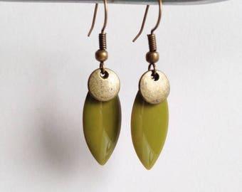 Earrings - Summer Touch - khaki Green