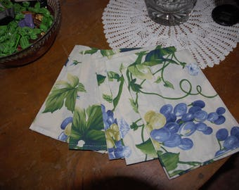 CHEERFUL COLORS COTTON NAPKINS