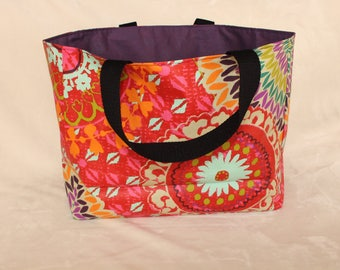 Coated cotton tote bag