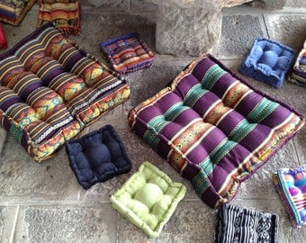 MINI CUSHIONS LOUNGE:COUSSINS OF SOIL IN COTTON TAILORED