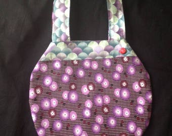 Reversible cotton ball bag