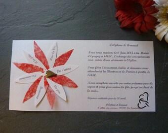 With envelope original wedding invitations