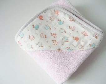 Turtles Hooded Baby Towel - can be PERSONALIZED with name