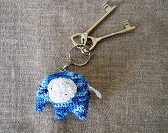 Keychain blue elephant