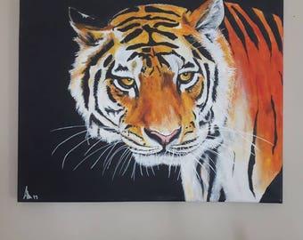 Tiger art, tiger print, tiger painting, tiger wall art, tiger pictures, wall art prints, tiger gifts, nature art, nature prints, animal art