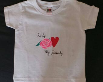 """My Beauty"" name girl t-shirt"