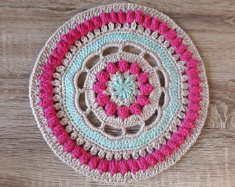 Mandalas crocheted doily