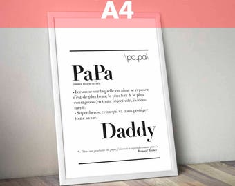 "Definition of ""Dad"" - A4 size poster: 21 x 29.7 cm"