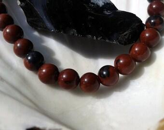 Obsidian Mahogany 6mm round pearls