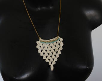 "Necklace ""ethnik"" smart crochet spirit ""pineapple"""
