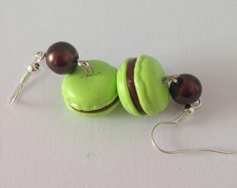Green polymer clay Stud Earrings