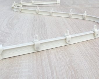 MINI-Rail curtains Flexible hand - finish white - ceiling fixtures and wall - 290 cm complete Set