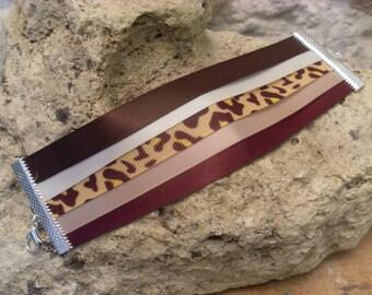 Multicolored Ribbon Cuff Bracelet