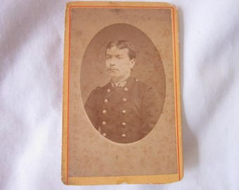 Antique CDV Photograph Military Soldier Perpignan  1870