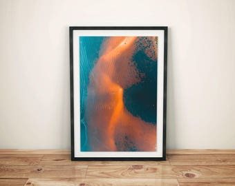 Canvas Print, Western Australia, Fine Art Print, Wall Art, Artwork, Aerial View, Home decor, Wall Decor, Ocean, Vibrant, Artwork, Australia