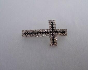 cross shaped rhinestone tube bead