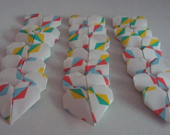 Set of origami hearts: Festival Collection