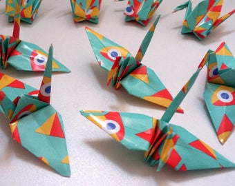 Set of origami cranes: Fun fish Collection