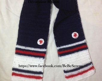 Boy nautical crochet scarves