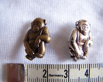 Fancy button, kids, monkey (Bo 2253)