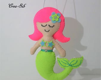 "Pendant ""Mermaid"" felt"
