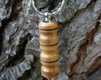 Keychain has been turned by hand in bamboo
