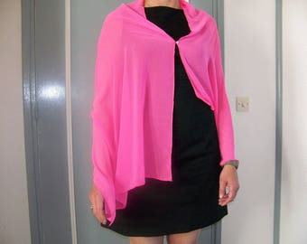 Neon pink stole for wedding outfit