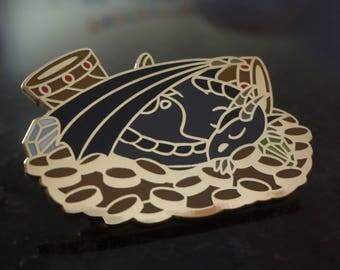 Black Dragon Enamel Pin - Dragon Pin - Dragon Badge