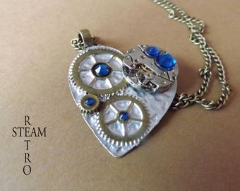 Mechanical heart Capri Steampunk necklace - Steampunk jewelry by Steamretro