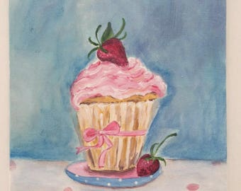 "Table ""Little strawberry creamy cupcake"""