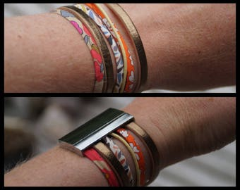 Bracelet with magnetic clasp made of different materials