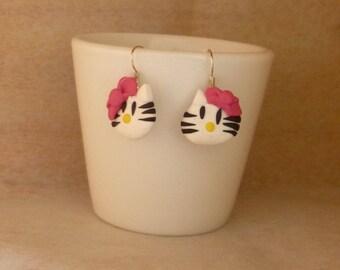 Earrings small cat