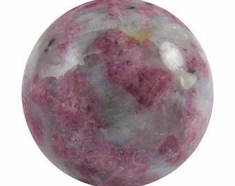 Pink tourmaline (rubellite) 30mm sphere