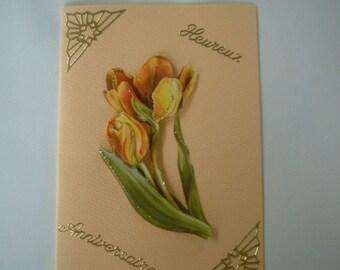 Tulip 30 birthday card