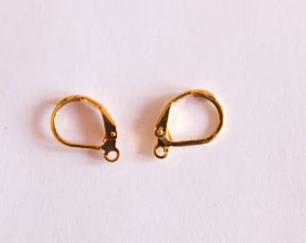 Support earring sleeper, Golden 10 pieces