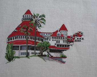 California houses cross stitch Embroidery
