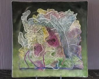 Porcelain sculpture lace yarn