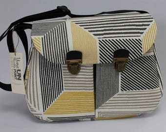 satchel style Briefcase graphic cotton canvas
