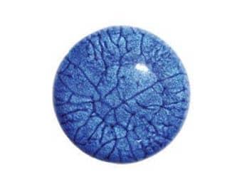 Dark blue marbled round Cabochon.