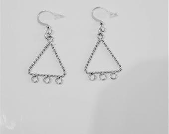 2 chandelier, silver connectors
