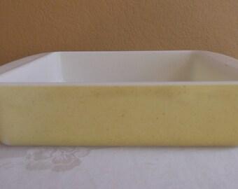 "Pyrex Desert Dawn Yellow 8"" X 8"" Baking Pan."