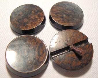 diameter 38mm 50-70's vintage marbled Brown button