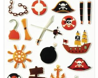 "Stickers Cooky relief ""Pirates"" x 23 - MAILDOR - Ref 560505"