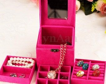 1 box display gem 12 x 12 cm dark pink